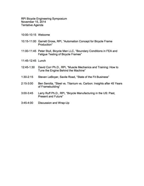 2014 agenda